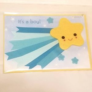 $5 Add-On Price   Papyrus Baby Boy Greeting Card